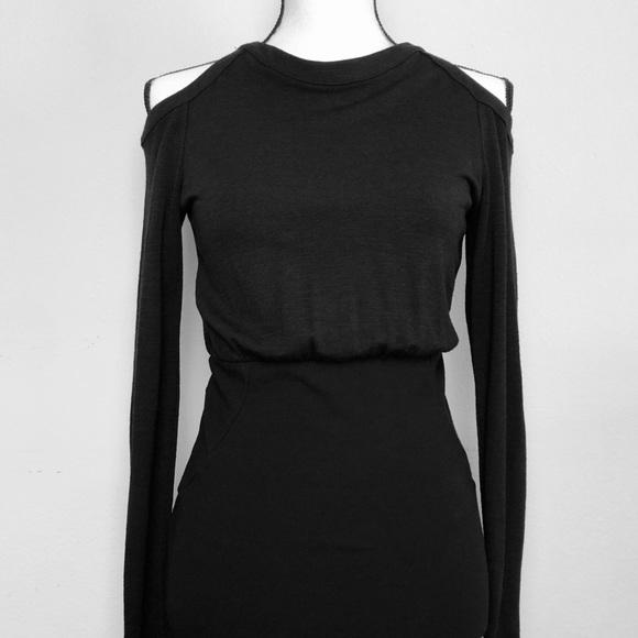 Versace Dresses & Skirts - Versace Cold Shoulder Long Sleeve Black Dress